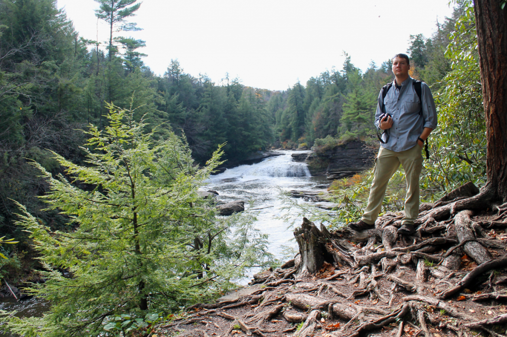 In the background, upper Swallow Creek Falls.