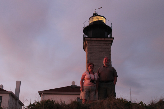 My parents at the lighthouse.