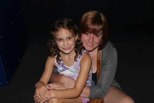 My niece, Maura and I at the aquarium.